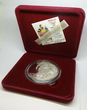 Rare SLEEPY DISNEY Snow White 50th Anniversary Proof .999 Fine 5oz Silver Medal