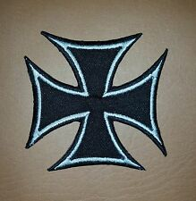 IRON CROSS, Chopper Biker Embroidered Iron/ Sew on Patch/ Badge/ Logo