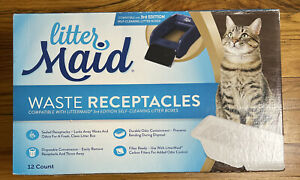 Litter Maid Waste Receptacles Compatible with 3rd Edition Self-Cleaning Boxes