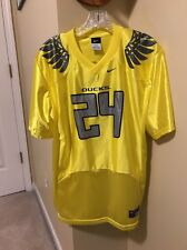 RARE OREGON DUCKS JERSEY #24 YELLOW YOUTH XL/S NCAA COLLEGE FOOTBALL