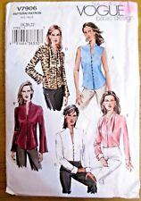 Vogue Sewing Pattern No. 7906 Ladies shirt size 18,20,22