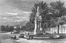 SPAIN. Fountain of the four seasons, Madrid 1881 old antique print picture