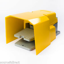 FS502 250V 15A FOOT PEDAL SWITCH FOR CNC MACHINE YELLOW METAL HEAVY DUTY IP54
