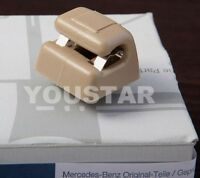 US STOCK 1x LIGHTED Sun Visor Clip for Mercedes W123 W124 W126 W463 Beige Cream