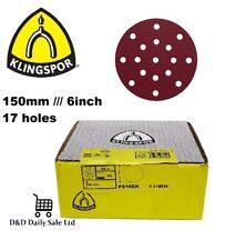 150mm Sanding Disc Sandpaper 17 hole l pads 6'' Hook Loop orbital sander FESTOOL