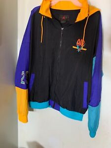 Nike Jordan 9 Nostalgia Legacy Flight Windbreaker Jacket size Large Black Yellow