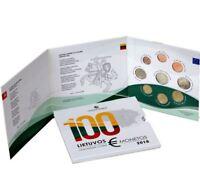 Litauen Lithuania Euro KMS BU 2018 inkl. 2 Euro 100 jahre Unabhängigkeit