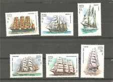6 MNH stamps (set) with ships, 1981 year issue