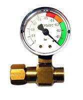 """Microtec Unterdruckmanometer G 3/8"""" Unterdruck Manometer Verschmutzungsanzeiger"""