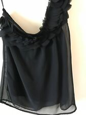 Women's Just Jeans Black One Shoulder Less Blouse Size 8 (excellent Condition)