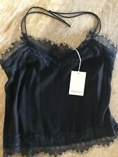 Magali Pascal Cami Black Lace Size Small Bnwt