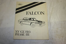 Falcon GTHO phase 3 workshop manual supplement