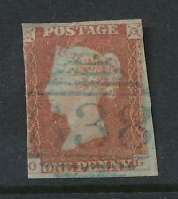 PENNY RED IMPERFORATE OG...BLUE 1844 CANCEL 338 Mountmellick IRELAND