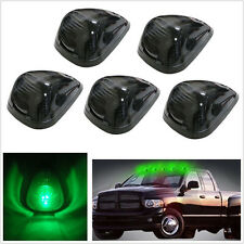 5 Pcs Smoke Green Lens LED Roof Running Lights Cab Marker Cover for SUV 4X4