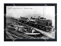 Historic Benson Logging & Lumber Co. - Clatskanie, Oregon Train Postcard