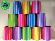 12x Designer Beer Can STUBBY HOLDER Stubbie Cooler Koozie in Colorful Stripes