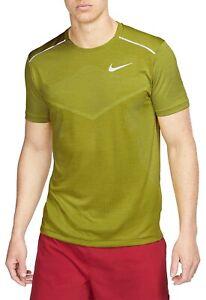 NIKE TechKnit Ultra Running Shirt Neon Green Men's Size 2XL *NEW* AJ7615-390 $70