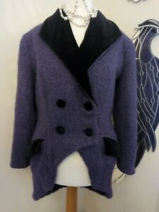 Victorian Style riding jacket purple velvet collared - Ditsy Vintage OOAK