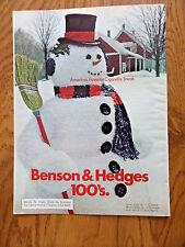 1973 Benson & Hedges Cigarette Ad   Snowman