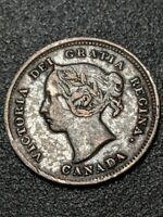 1885  Canada - 5 cent silver - high grade - No Taxes