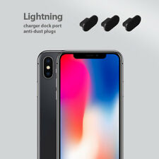 3 x Black Anti Dust Plug charger dock port for lightning For iphone X