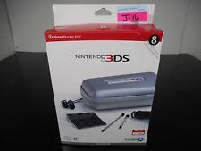 NEW! NINTENDO 3DS EXPLORER STARTER KIT 8 ITEMS EAR BUDS STYLUS MORE SILVER J-16