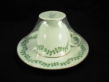 GENUINE LALIQUE LIMOGES LIANE D'EAU CUP & SAUCER NEW OLD STOCK!!