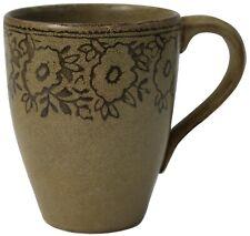 Set of 6 Large Coffee Mugs Speckled Floral Green Pier 1 Batik 350ml Capacity