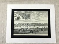 1887 Print Marine Park Southport Lancashire County Antique Original
