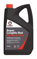 COMMA SUPER LONG LIFE RED ANTIFREEZE COOLANT SLC5L Winter ice freeze protection