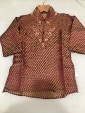 Boys Indian Bollywood Party wear collar Kurta pajama kids Sherwani