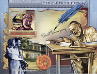 Togo Writers Stamps 2011 MNH Ernest Hemingway Famous People 1v S/S