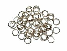 50 x sterling silver split rings-job lot