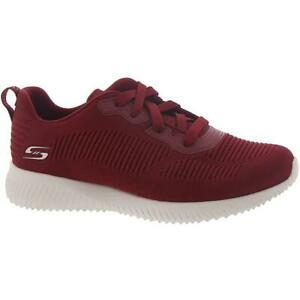 BOBS From Skechers Womens Squad-Tough Talk Red Running Shoes 8 Wide (C,D,W) 3480