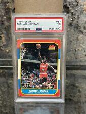 1986 Fleer Basketball Michael Jordan ROOKIE RC #57 PSA 3 VG