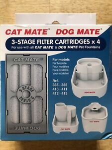 Cat Mate / Dog Mate - Replacement 3-Stage Filter Cartridges x4 - Fits all Models