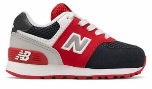 New Balance Infant 574 Shoes Blue with Red