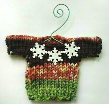 Multicolored and Snowflakes   MINI   Christmas Sweater   Ornament
