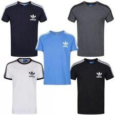 T-shirts bleus adidas pour homme