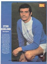 STAN HARLAND BIRMINGHAM CITY 1971-1973 RARE ORIGINAL HAND SIGNED PICTURE CUTTING