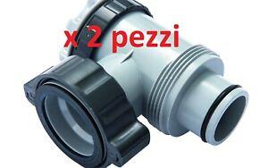 .....2 Ricambio valvola piscina plunger connessione pompa Intex Bestway P6H11229