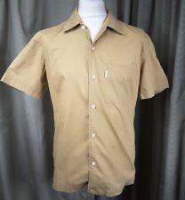 "Paul Smith 100% Cotton Beige Sand Brown Short Sleeve Shirt  - M C38"""