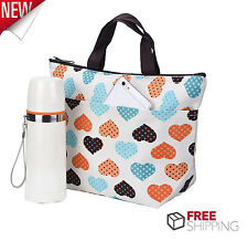 Lunch Bag Insulated Women Tote Thermal Box Cooler Travel Picnic Girls Carry Bag
