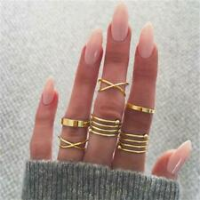 Joint Rings  Gold Toned Exaggerated Midi Finger Ring Women Jewelry LC