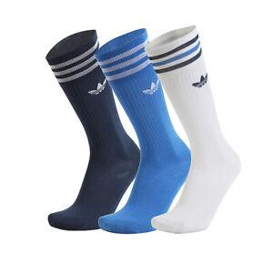 Adidas Solid Crew Socks 3-Paris Multi-Color GN3074