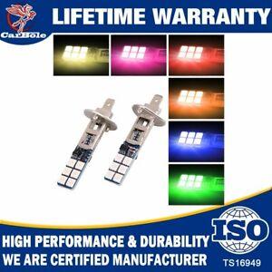 2 Pack Xenon H1 LED Halogen Headlight Bulbs 6000K High Low Beam Light 100W White