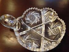 Handled Nappy Dish Cut Glass Pre-Owned