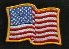 WAVY American Flag Red White Blue USA Patriotic Biker Military Motorcycle Patch