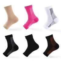 Ankle Sleeve Compression Sock Support Plantar Fasciitis Heel Pain Relief Lot