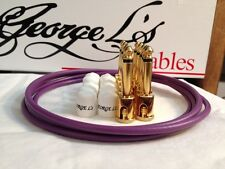 George L's 155 Guitar Pedal Cable Kit .155 Purple / White / Gold - 10/10/5